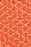 Summer Fun Umbrella with Hole Zipper Tablecloth - Orange Trellis 70in. Round