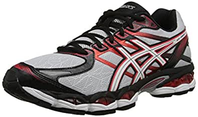 ASICS Men's Gel-Evate 3 Running Shoe,Lightning/White/Red,11.5 M US
