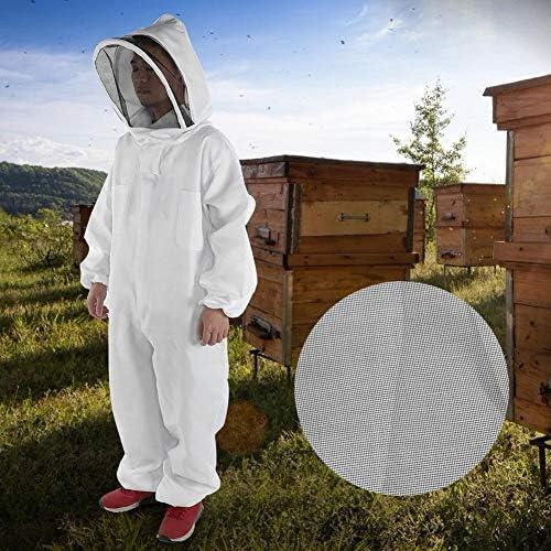 Acogedor プロ防護服 、防護服、蜂用防護服 、保護ベールあり、養蜂用の防護服、良く通気性、耐摩耗性と耐久性に優れる、害虫駆除、蚊虫対策 (XXXL)