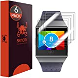Fitbit Ionic Screen Protector (6-Pack), Skinomi TechSkin Full Coverage Screen Protector for Fitbit Ionic Clear HD Anti-Bubble Film