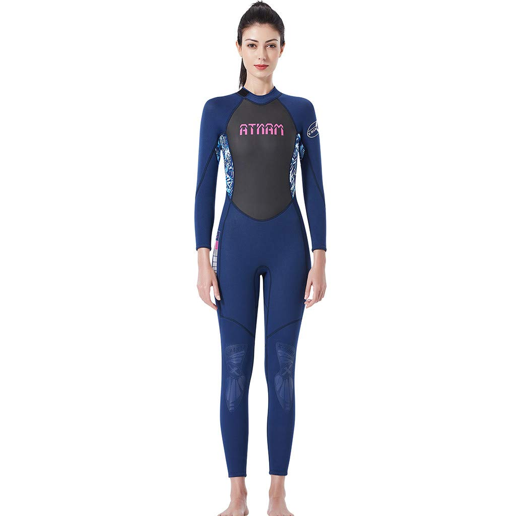 LUXISDE Women's Keep Warm Sunscreen Swimming,Surfing and Snorkeling Diving Coverall Suit Blue by LUXISDE (Image #6)