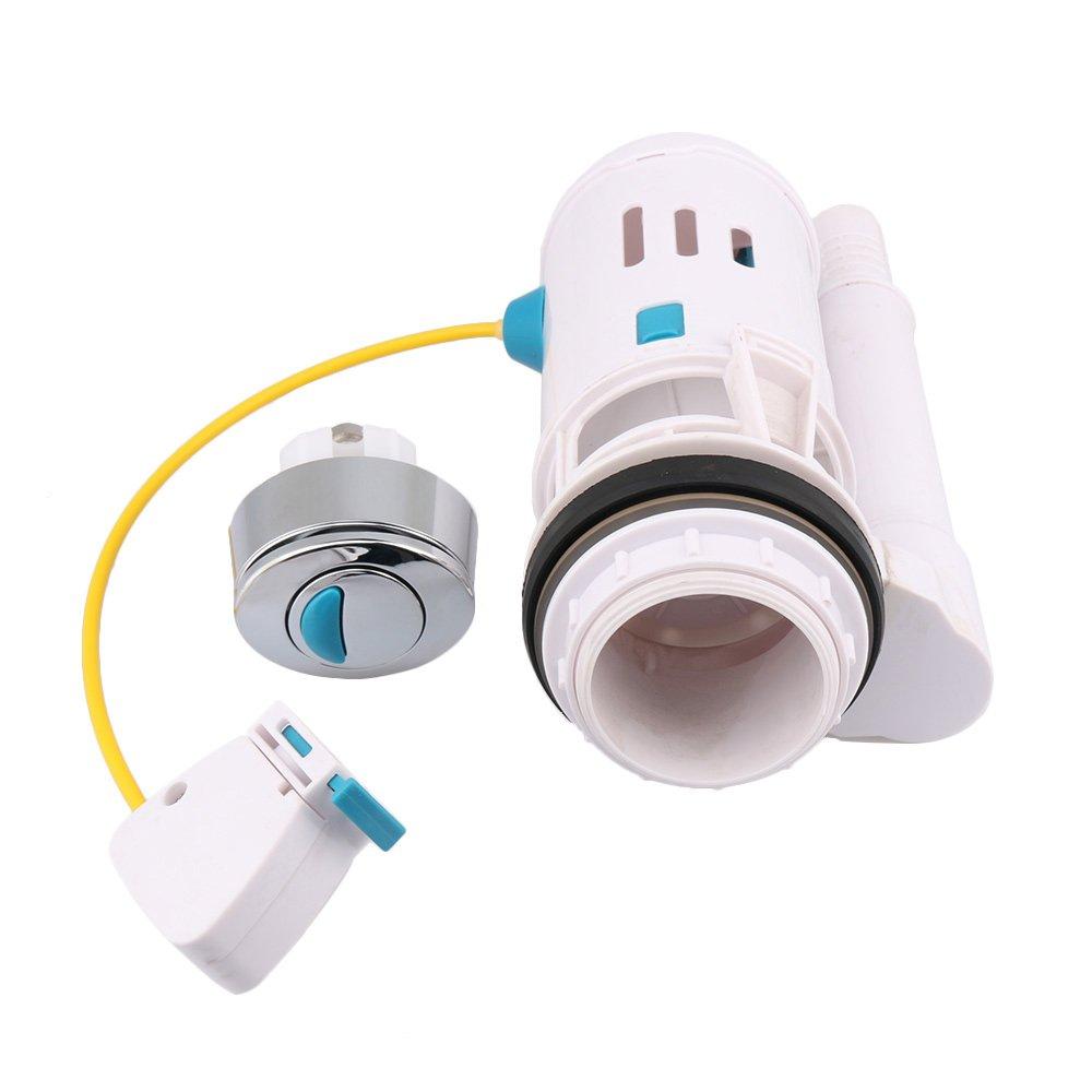/75/mm agujeros de drenaje BQLZR para inodoro v/álvula de cisterna WC pulsador doble para cisterna de ahorro de Draw V/álvula de apagado con m/áxima flexibilidad Fit para 60/
