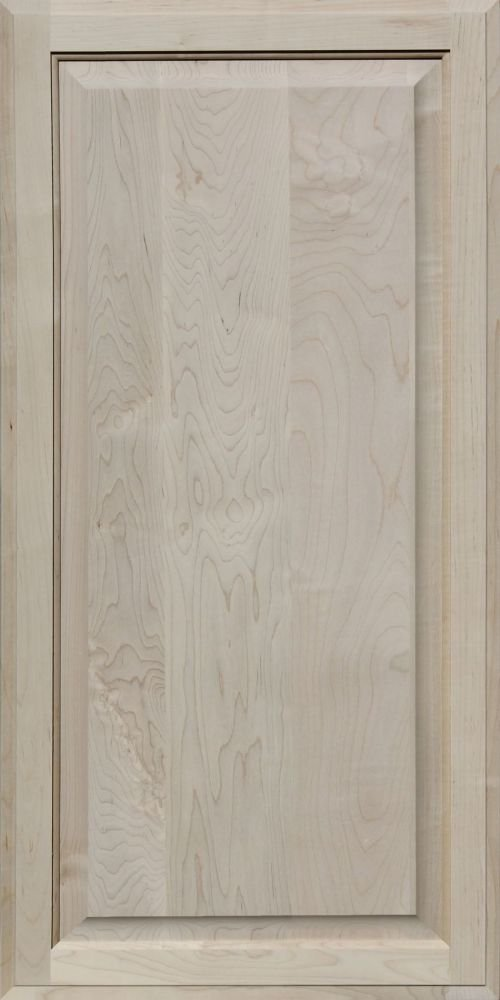Unfinished Maple Cabinet Door, Square with Raised Panel by Kendor, 38H x 19W