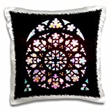3dRose Stained Glass Window Photo from Prague - St Vitus Cathedral - Church Colorful Stain Glass Multicolor - pillow Case, 16 by 16-Inch (pc_155692_1)