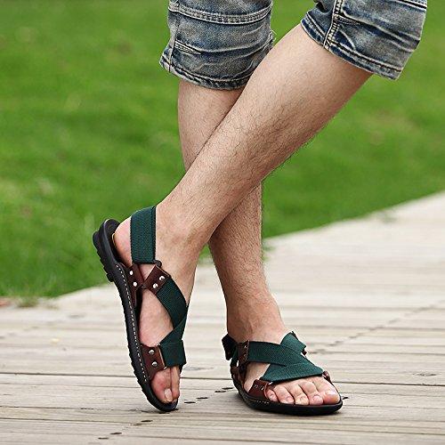 Xing Lin Sandalias De Verano Transpirable Zapatos De Hombre _ Nuevos Hombres Casual Sandalias De Playa De Hombres Transpirable Zapatos Sandalias Zapatos De Hombre Ola Dark green