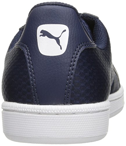 Puma Smash Cat Mesh Moda Sneaker Peacoat-puma Bianco