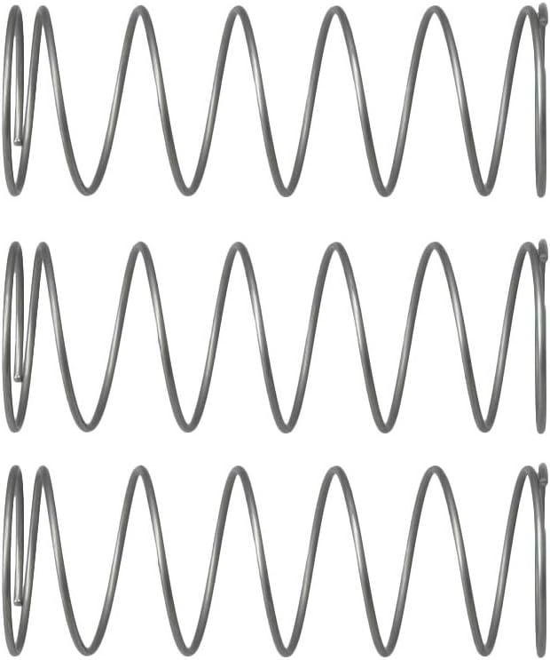Yibuy 3Piece Piston Valve Spring 52x18mm for Trumpet Orchestral Instrument