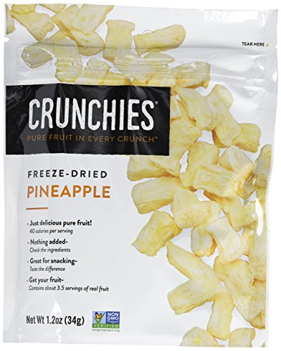 Crunchies Freeze-Dried Grab-n-Go Pineapple, 1.2 Ounce (Pack of 6)
