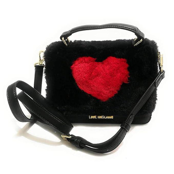 Moschino BORSA TRACOLLINA LOVE PU ECOPELLICCIA NERO CUORE ROSSO B19MO72   Amazon.it  Scarpe e borse dc8a56e80f8