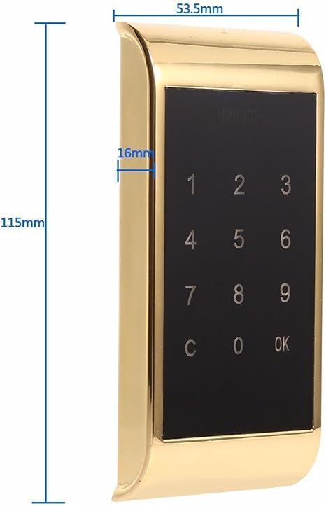 Teclado T/áctil Bloqueo Electr/ónico del Gabinete Contrase/ña Bloqueo de Acceso Bloqueo Digital del Gabinete de Seguridad para El Sistema de Control de Acceso con Claves RFID