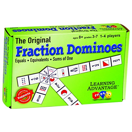 51p712kRyQL - Learning Advantage The Original Fraction Dominoes Game - Fraction Learning Game