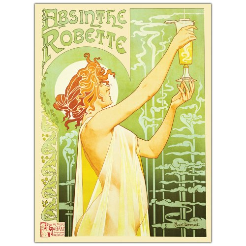 (Absinthe Robette by Privat Livemont, 18x24-Inch Canvas Wall Art)