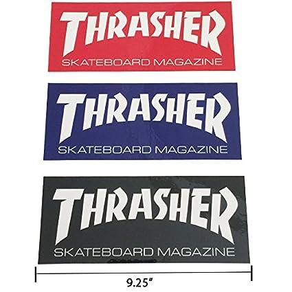 55d62e708b35 Amazon.com  Thrasher Magazine Logo Rectangle Sticker 9.25