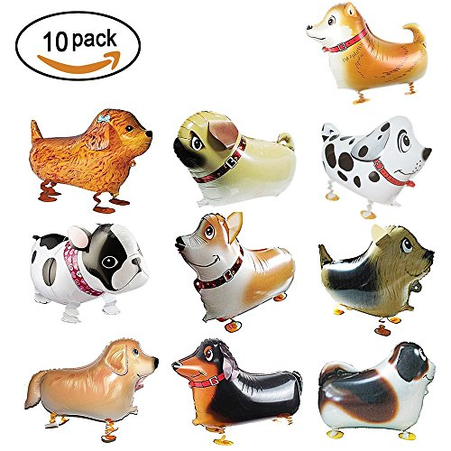 Ula Puppy Balloons10 Types Walking Animal Balloon Cute Dog Balloons For Kids Birthday Decorations/Gift/Toy (Perfect for Animal Theme (Types Of Balloons)