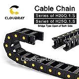 Ochoos Cable Chains JFLO Bridge Type Both Side Opening 20x38 20x50 25x38 25x50 25x60mm Plastic Towline Transmission - (Inner Size: 20x100 mm, Bending Radius: 75mm)