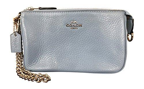 Coach Pebbled Leather Large Wristlet Handbag, Pool by Coach
