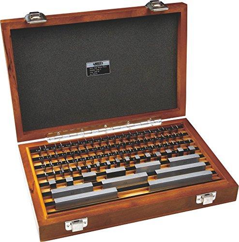 Insize 4100–276Bloc de calibre en acier, Iso3650, grade 2, 76pièces