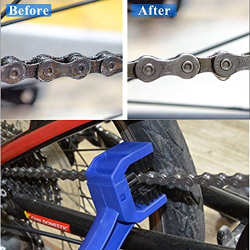 HENGSHENG Motorcycle & Bike Chain Cleaning Tool – Multi-purpose for All Bikes – Works Great with Degreasers – Great Brush Action