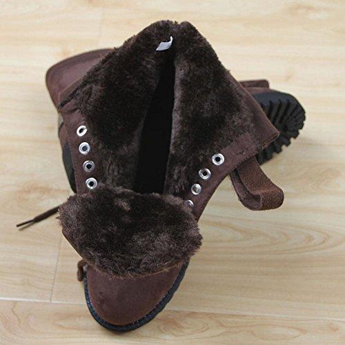 Getmorebeauty GetmorebeautyUpdate - Botas de nieve mujer marrón