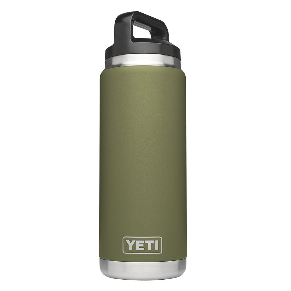 YETI Rambler 26oz Vacuum Insulated Stainless Steel Bottle with Cap, Olive Green DuraCoat