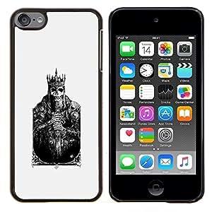 - king card skull poster poker death/ Duro Snap en el tel??fono celular de la cubierta - Cao - For Apple iPod Touch 6 6th Generation