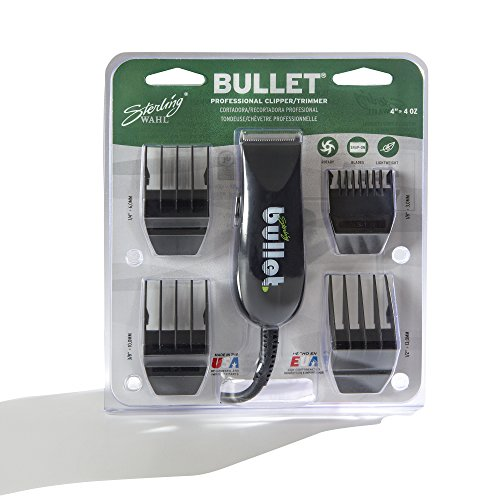 Wahl Professional Sterling Bullet Clipper/Trimmer #8035 - Great for Professional Stylists and Barbers - Rotary Motor - Black