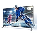 SANSUI TV LED Electronics Televisions 55'' 4K TV with Flat Screen TV HDMI Cable PCA Input High Definition and Widescreen Monitor Display 4 HDMI (2018 Model)