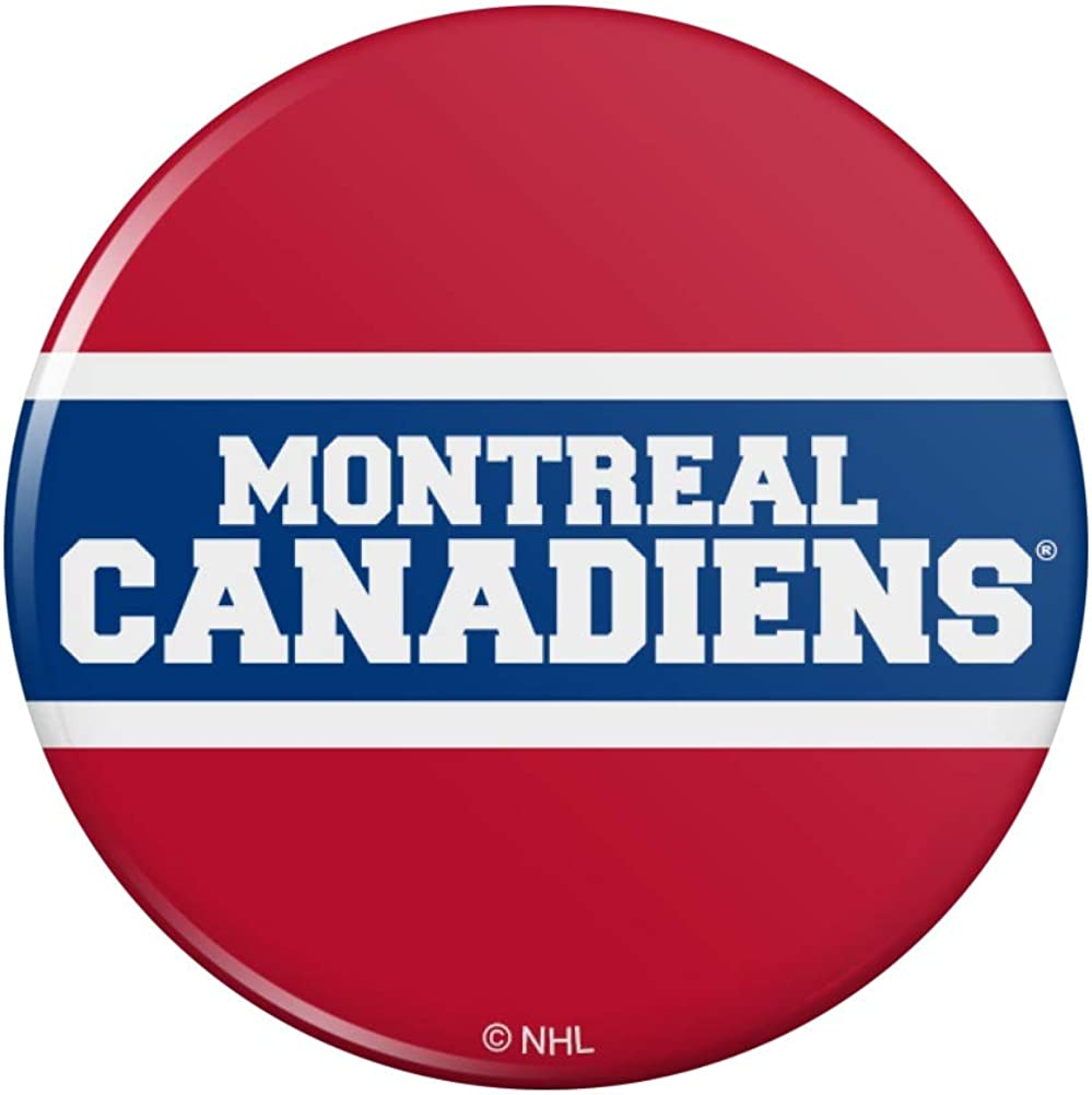 Amazon Com Nhl Montreal Canadiens Logo Pinback Button Pin Clothing