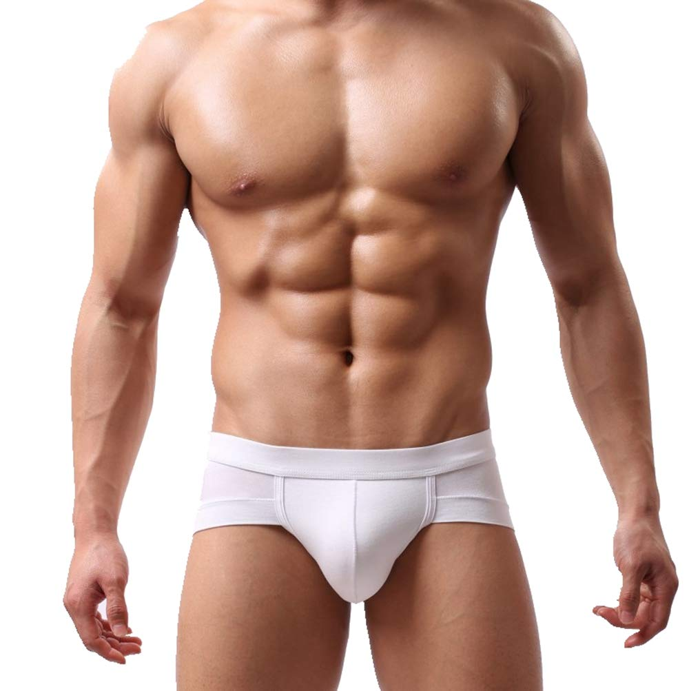 Sexy Lingerie for Men for Sex Wugeshangmao Men's Solid Bulge Pouch Soft Underpants G Sting Shorts Honeymoon Nightwear White
