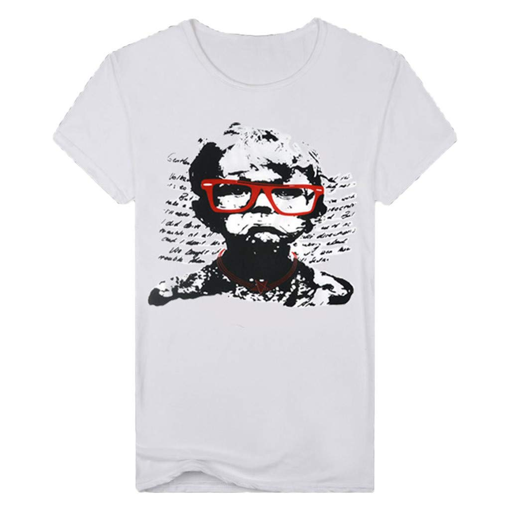 Mens Fashion T-Shirt Funny Boy Printed Short Sleeve Tops Blouse