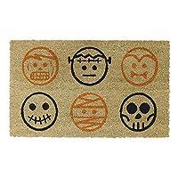 Avera Products   Halloween Characters, Natural Coir Fiber Doormat, Anti-Slip PVC Mat Back