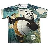 Kung Fu Panda Cartoon Action Movie Po Stretching Big Boys Front Print T-Shirt