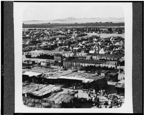 Vintography HistoricalFindings Photo: Nebi Rubin Pilgrim Camp,Reminiscent Israel's Camp,Desert,1920-1933,Muslim by Vintography