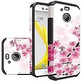 HR Wireless Cell Phone Case for HTC Bolt 10 EVO Slim Hybrid Dual Layer Armor - Cherry Blossom