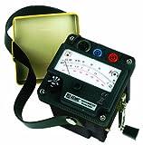 AEMC 2126.52 Hand-cranked Megohmmeter, 5000 Megaohms Resistance, 1000V Test Voltage with a NIST-Traceable Calibration Certificate with Data