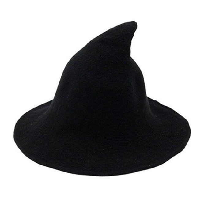 13e1dc10a Yakuro Modern Halloween Witch Hat Women Wide-Brimmed Cap Costume Ball Hat