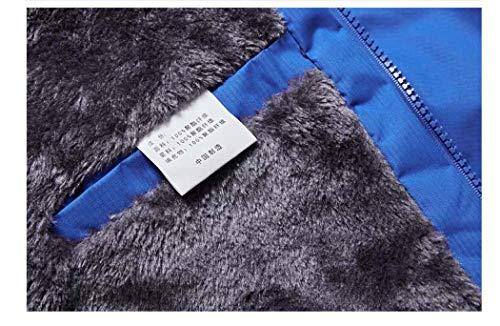 Calda Calda Calda Black Blue Giubbotto l'inverno Uomo Outdoor Outdoor Outdoor Impermeabile Ispessimento Adong XXXL per Sport Giacche Velluto Giacca Plus Freddo Uomo Zq6xw4T