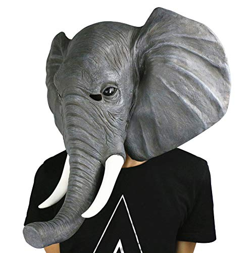 Gmasking 2016 Elephant Adult Head Mask Upgraded Version Halloween Party Decorations Gray -