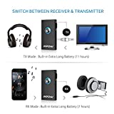Mpow Bluetooth Receiver/Transmitter, 2-in-1 Wireless Bluetooth Adapter with Stereo Music Transmission for Car / Home Audio System & TV (Bluetooth Profile: A2DP&AVRCP)