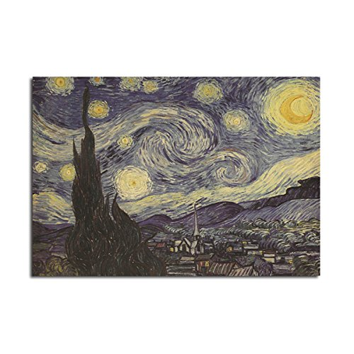 Wall Art - Van Gogh Star Poster Kraft Paper Wall Poster Diy Wall Art Inch Inch - Caravan Sensation Placard Vanguard Hotshot Card Ace Notice Headliner Bill Stellar Post Horse Wizard - 1PCs ()