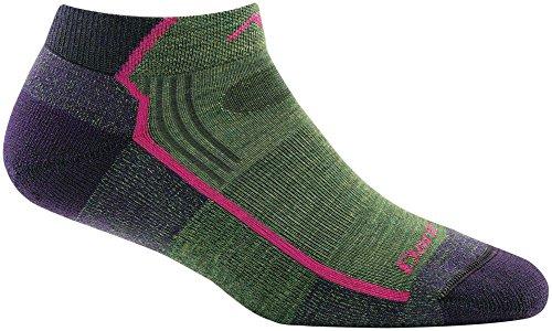 Darn Tough Hiker No Show Light Cushion Sock - Women's Moss Heather Medium ()