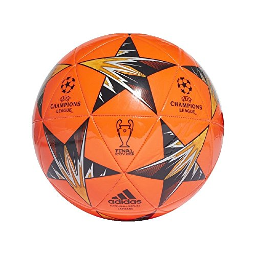 adidas Champions League Finale Kiev Capitano Soccer Ball, Bright orange/black, Size 5 Adidas Orange Soccer Ball