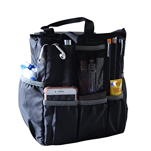 Diaper Backpack/Diaper Bag Insert Organizer for Stylish Moms or Dads, Black, 20 Pockets, Turn Any Backpack into A Diaper Backpack, by MommyDaddy&Me