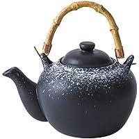 UPKOCH Ceramic Teapot Japanese Teapot Ceramic Tea Kettle with Wood Handle Decorative Pottery Teapot for Home Restaurant