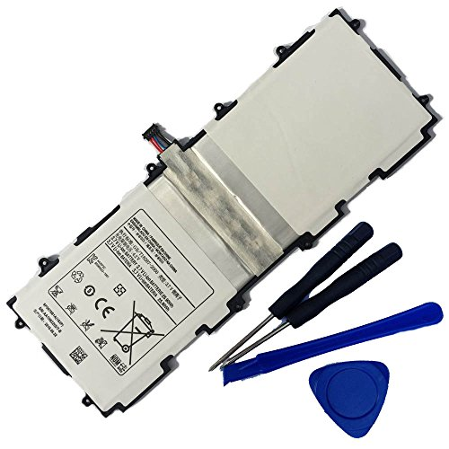 Powerforlaptop Replace Battery + Repair Tools for SP3676B1A(1S2P) Samsung Galaxy Tab 2 10.1 Series Tablet GT-P7510 GT-7511 GT-N8010 GT-P5100 GT-P5110 GT-N8000 GT-P5113 P7500 N8013 3.7V 7000mAh