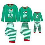 Rnxrbb Holiday Christmas Pajamas Family Matching Pjs Set Xmas Jammies for Couples and Kids Green Cotton,Women,L