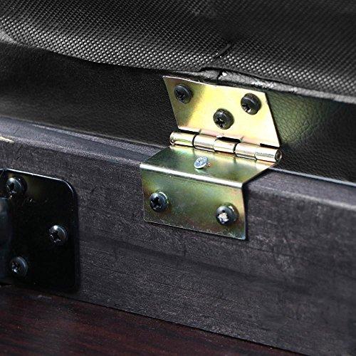 World Pride Black PU Leather Piano Bench Padded Cedarwood Double Duet Keyboard Seat Book Storage