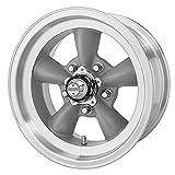 American Racing Hot Rod Torq Thrust D VN105 Torq Thrust Gray Wheel with Machined Lip (15x8.5