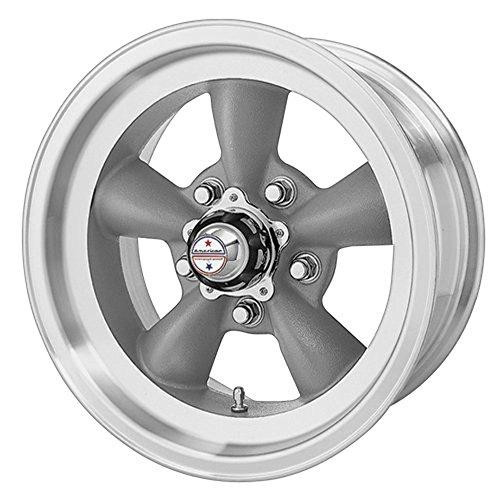 American Racing Hot Rod Torq Thrust D VN105 Torq Thrust Gray Wheel with Machined Lip (15x7