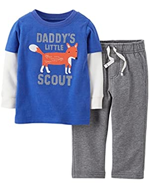 Carter's Baby Boys' 2 Piece Pant Set (Baby) - Fox